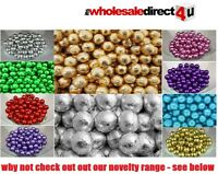 QUALITY MILK CHOCOLATE FOIL BALLS - ALL COLOURS IDEAL FOR PARTIES & WEDDINGS