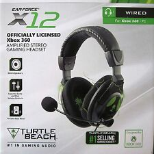 NEW Turtle Beach X12 Amplified Stereo Headphones Gaming Headset for Xbox 360 PC