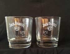2  JACK DANIELS HEAVY  GLASS TUMBLERS  FROM 2015  NO BOXES