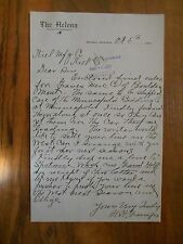 Antique 1903, The Helena, Montana Letter Paper Advertising Old Vintage Kiel Mfg