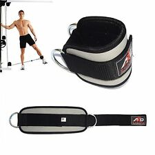 Gym Exercise Ankle Strap Weight Lifting Fitness D Ring Cable Attachment-Grey