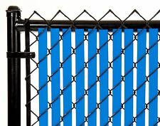 Chain Link Royal Blue Double Wall Tube™ Privacy Slat 8ft High Fence Bottom Lock