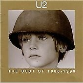 THE BEST OF U2 1980-1990 - 2 x GREATEST HITS CD SET - WITH OR WITHOUT YOU / BAD