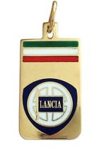 CIONDOLO LANCIA IN ORO GIALLO 18KT CON SMALTI - 18KT SOLID YELLOW GOLD PENDANT