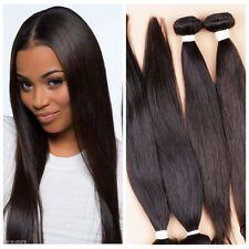 "4 Bundles 18"" Remy Virgin Brazilian Straight Human Hair Weave Extensions 200g"