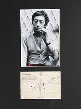 Serge GAINSBOURG († 1991) - RARE DOUBLE AUTOGRAPHE signé en personne (années 60)