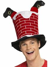 CHRISTMAS ADULT CHIMNEY WITH SANTA LEGS HAT JOKE FANCY DRESS NOVELTY PARTY