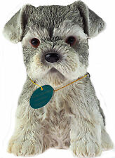 Sitting 17 cm Schnauzer Cute Puppy Dog Ornament / Figurine