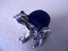 Nice vintage sterling silver pin grenouille coussin 1973