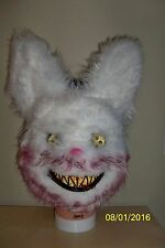 SNOWBALL WHITE BUNNY RABBIT BLOODY FUR TEETH CREEPY SCARY MASK COSTUME MR131306