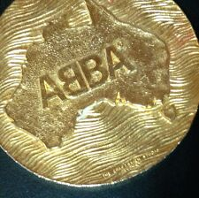 Scarce Mint 1977 March Abba Australian Tour Medallion Necklace music memorabilia
