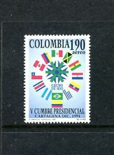 Colombia C845, MNH, 5th summit of Latin American prtesidents  Flags 1991 x23558