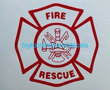 Fire Rescue Decal Ambulance Department Fireman Car Truck Window Vehicle Sticker