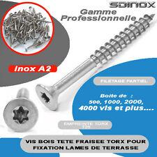 Vis bois inox Torx 6x100 ideal terrasse 100 pcs