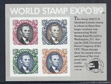 US 2433 UPU World Stamp Expo, Lincoln 90c, Proof Color, MNH-VF, PO Fresh*