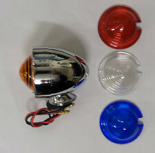VESPA LAMBRETTA CHROME BULLET LIGHTS 4 LENSES
