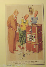 old China postcard,,I marked my luggage like that once & they sent it to China