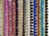 50 Preciosa Czech Glass 8mm Cathedral Fire Polished Faceted Rosary Beads U Pick
