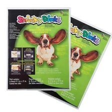 "SHRINKY DINK DINKS INKJET PRINTER PAPER 6 SHEETS 8.5""x11"" NEW"