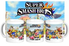 Super Smash Brothers Bros Personalised Name Gift Mug Cup for Gamers Ideal Wii U