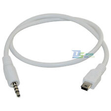 3.5mm Male Stereo Plug to Mini USB Male Plug Adapter Converter Audio Cable White