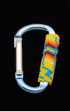 Native American Handmade Beaded Carabiner
