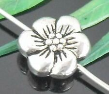 15Pcs Tibetan Silver Flower Spacer Beads 11x4mm (Lead-free)
