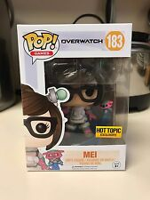 Funko Pop Mei Overwatch Hot topic Exclusive Chase 183 Free Shipping - New