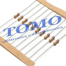 Resistenza Resistore 10R 10 ohm 1/4W 5% carbone lotto di 25 pezzi