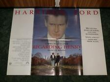 UK Movie Poster ~ Regarding Henry ~ Harrison Ford ~ Folded as Issued