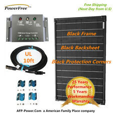 COMPLETE KIT SuperBlack 40w 40 Watts Monocrystalline Solar Panel Kit 12v Battery