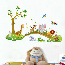 Removable Jungle Safari Animals Zoo Kids Wall Sticker PVC Decal Nursery Decor