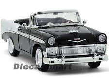 YAT MING 1:18 1956 CHEVY BEL AIR CONVERTIBLE DIECAST BLACK WHITE 1 OF 600