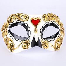 Maschera Veneziana ~ sugar skull heart ~ giorno dei morti Ballo in Maschera ~ #905cbm