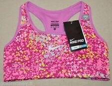 Nike Pro Printed Women's Sports Bra Pink Medium Support 696356 506 Size XS  New