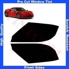Pre Cut Window Tint Alfa Romeo 4C 3 Doors Coupe 2013-... Front Sides Any Shade