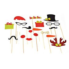 New 17 Piece Christmas Xmas Photobooth photo boothParty Props Set holding sticks