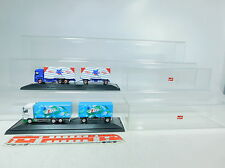 AU874-1# 2x Herpa H0 Lorry Mercedes-Benz/MB: 7 up+Flying Horse,in display case