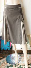 £120 WHISTLES BROWN COTTON EQUESTRIAN/TWEED A-LINE SKIRT SIZE 12/EU 40 JUPE ROCK