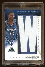 IMMACULATE ANDREW WIGGINS RC #D 1/7  1/1 *W* JUMBO PATCH LOGO   AMAZING PULLED