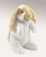Standing Lop Rabbit Hand Puppet wi/ Moveable Mouth & Paws, Folkmanis MPN 2992