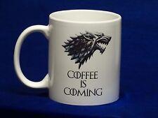 coffee is coming Mug, game of thrones, Funny mug, Cool mug, Novelty mug, Ceramic