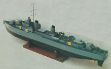 1/144 Scale USS Hanley Gearing Class Destroyer Plans, Templates, Instructions
