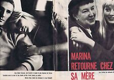 COUPURE DE PRESSE CLIPPING 1959 MARINA VLADY - ROBERT HOSSEIN   (6 pages)