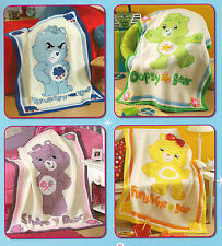 CARE BEARS care and share afghans to crochet, pattern booklet Leisure Arts 4268