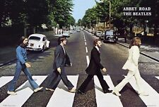 "THE BEATLES - ABBEY ROAD ALBUM COVER SCENE 91 x 61 cm 36"" x 24"" POSTER"