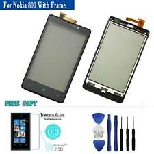 Touch Screen Digitizer Replacement Panel Black + Frame For Nokia Lumia 820 N820