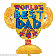 "27"" Father's Day World's Best Dad Award Trophy Party Foil Supershape Balloon"