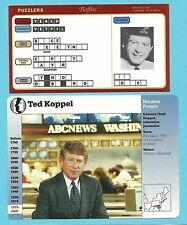 Ted Koppel Fab Card Collection British American broadcast journalist Nightline