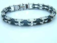 BIKE CHAIN BALL STAINLESS STEEL 316L MEN'S JEWELLERY BRACELET  R6